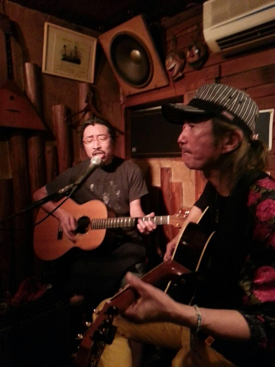 石田長生元茶屋ライブ。